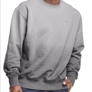 New black Powerblend Fleece Ombre Crew Champion